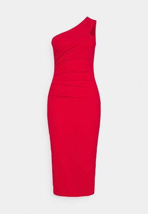 GRACE RUCHED DRESS - Etuikjole - red