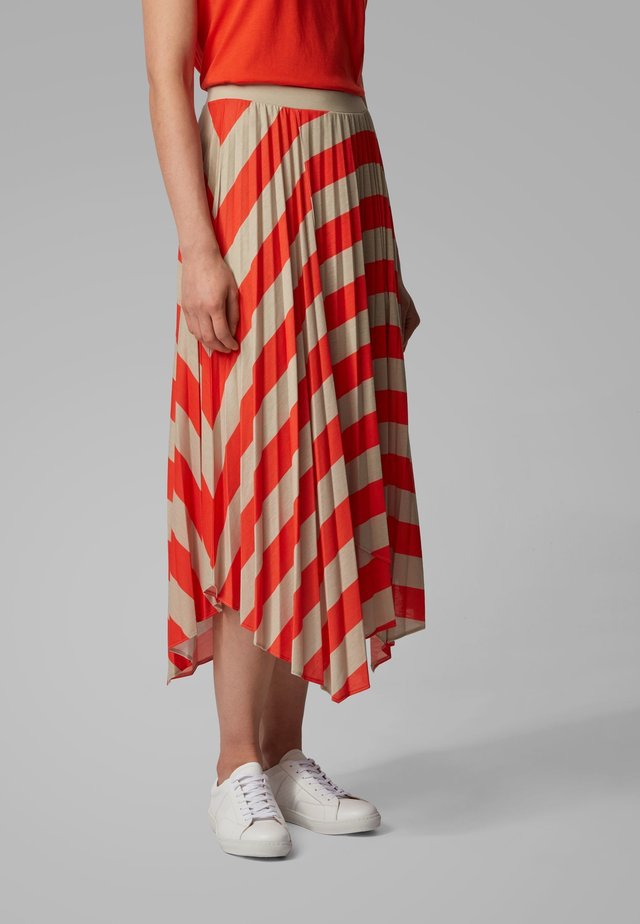 TRENA - A-line skirt - orange