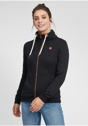 VICKY - Zip-up sweatshirt - black