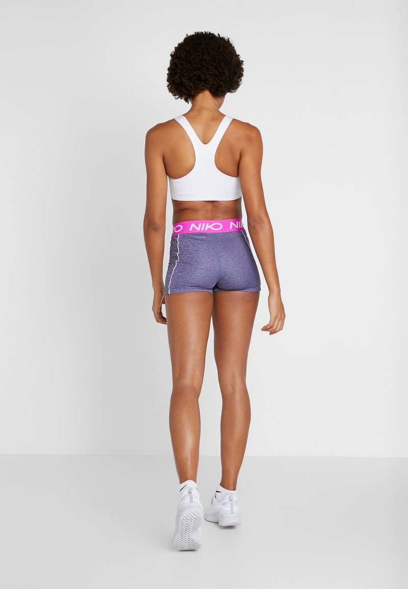 Nike Performance - SHORT SPACE DYE - Legging - cerulean/white