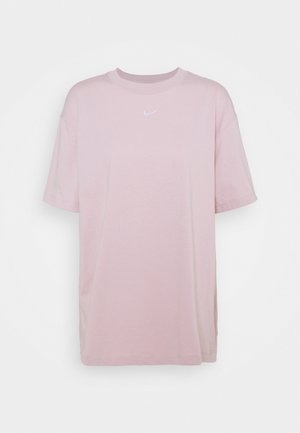 T-shirt basic - champagne/white