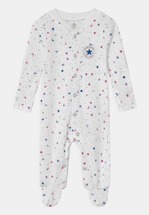 FOOTED COVERALL RUFFLE FOOT - Pyjamas - white