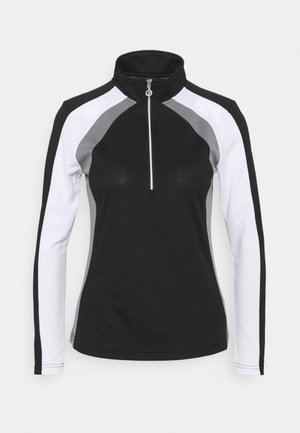 ROXA HALF NECK - Long sleeved top - black