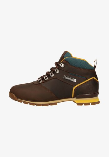 Lace-up ankle boots - potting soil