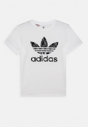 TEE - T-shirt med print - white/black