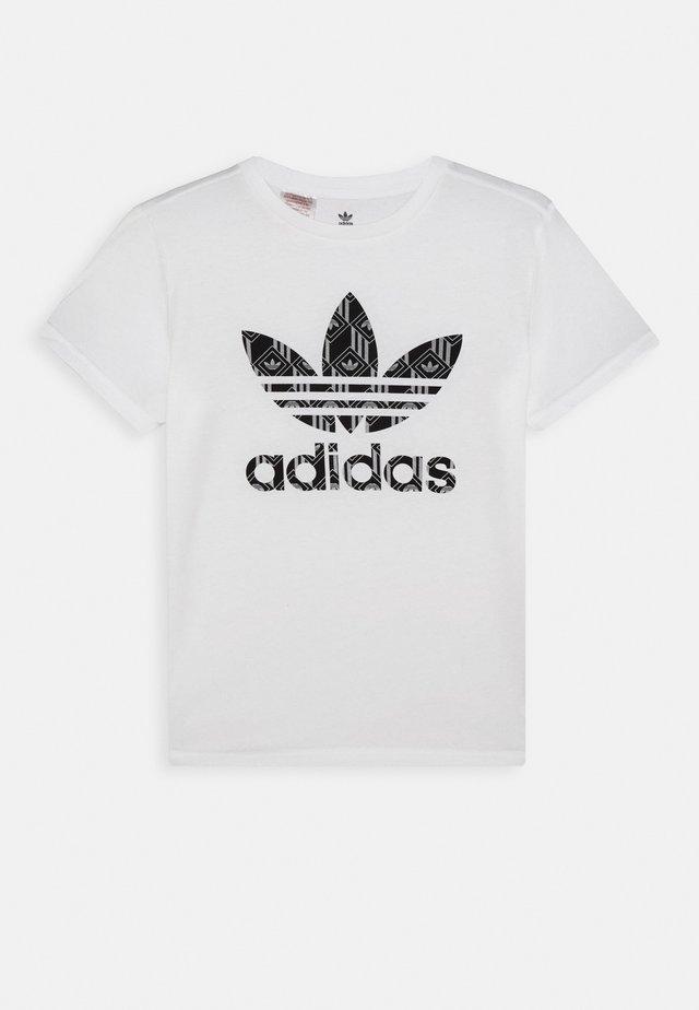 TEE - T-shirt imprimé - white/black