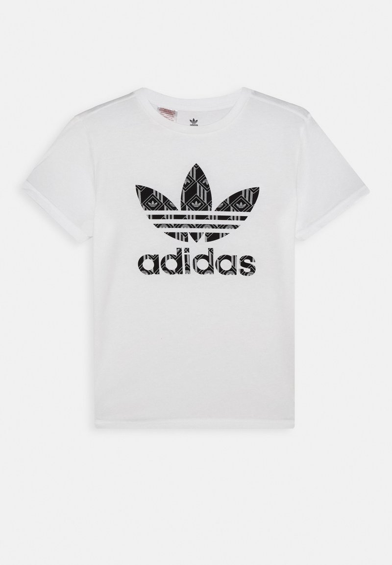 adidas Originals - TEE - T-shirt print - white/black