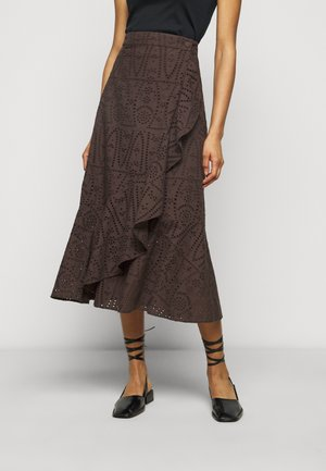 FRANCINE THINKTWICE - A-line skirt - forest floor