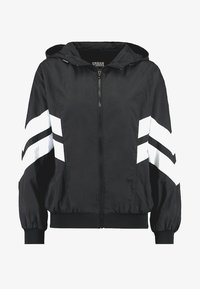 Urban Classics - LADIES BATWING JACKET - Windbreaker - black/white - 5
