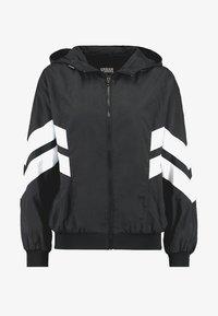 CRINKLE BATWING  - Outdoor jacket - black/white