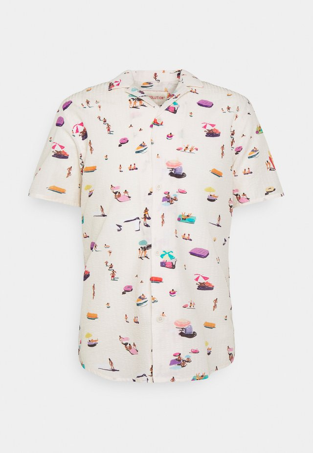 SHORT SLEEVED CUBAN - Skjorte - offwhite
