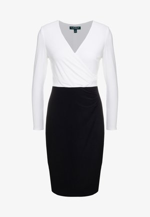 MID WEIGHT TONE DRESS - Shift dress - black/ white