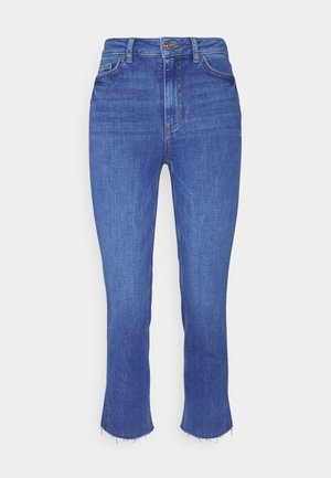 PCDELLY - Straight leg jeans - medium blue denim