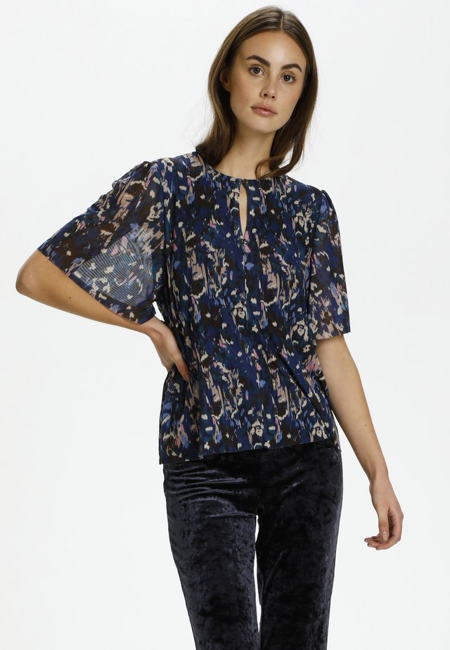 Blouse - poppie print night sky