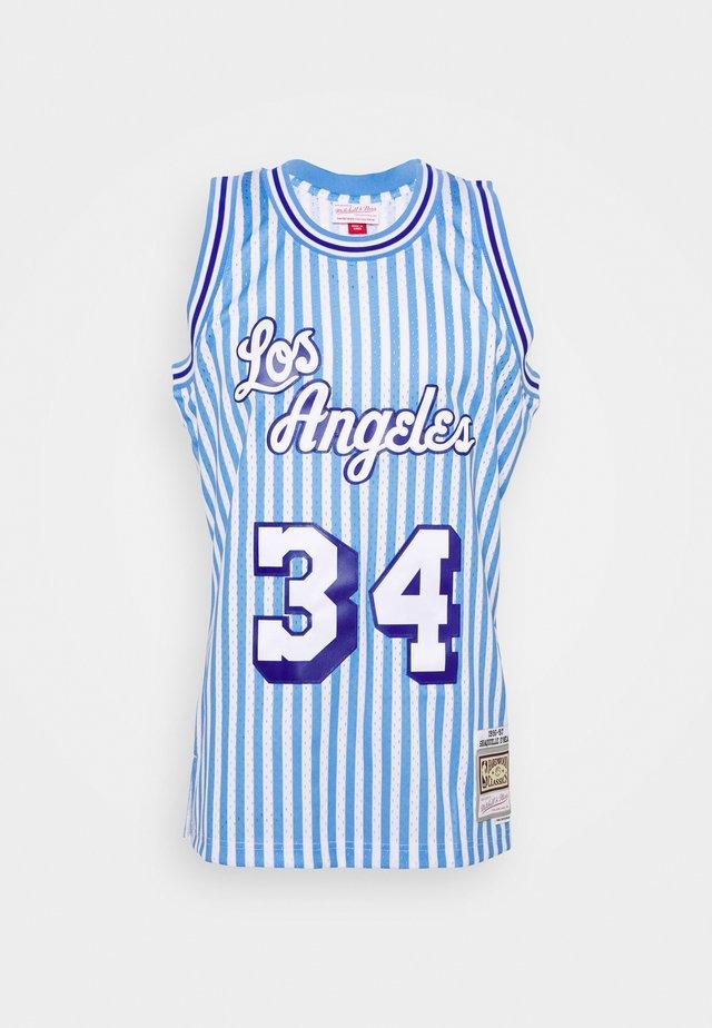 NBA LOS ANGELES LAKERS STRIPED SWINGMAN O'NEAL - Klubbklær - blue