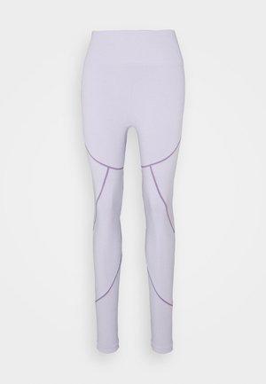 SEAMLESS TWO TONE HIGH WAIST LEGGINGS - Leggings - purple
