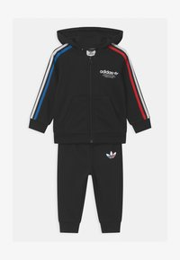 adidas Originals - HOODIE SET UNISEX - Survêtement - black - 0