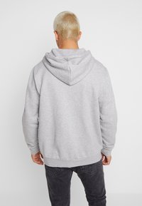 adidas Originals - STRIPES UNISEX - Zip-up hoodie - medium grey heather - 2