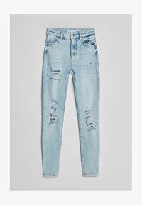 Bershka - SUPER HIGH WAIST - Jeans Skinny Fit - blue denim - 4