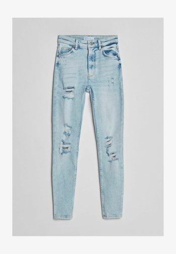 SUPER HIGH WAIST - Skinny džíny - blue denim