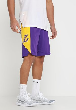 NBA LA LAKERS SHORT - Sports shorts - field purple/amarillo/black