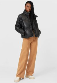 Stradivarius - Faux leather jacket - black - 1