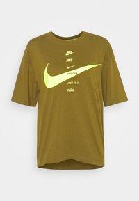 Print T-shirt - olive flak/volt