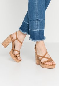 ONLY SHOES - ONLAERIN  - High heeled sandals - cognac - 0