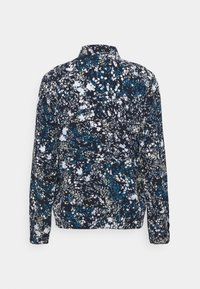TOM TAILOR - BLOUSE PRINTED - Button-down blouse - navy/yellow - 1