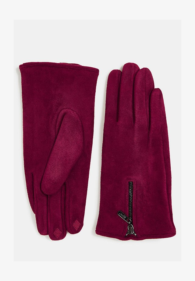 Gloves - bordeaux red