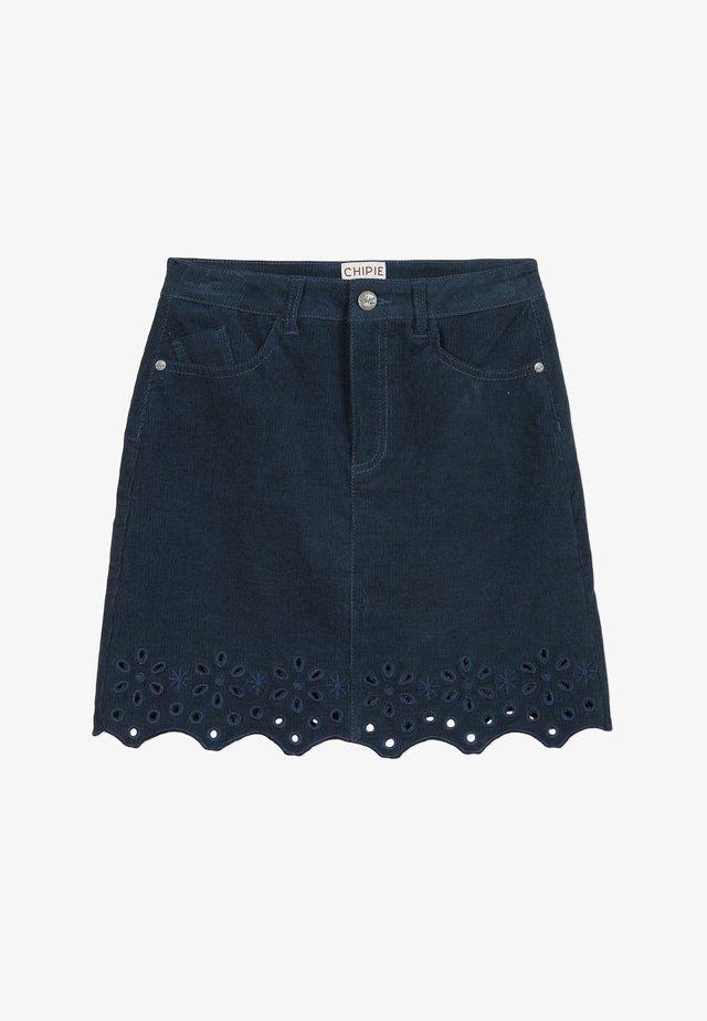 VELVET - Jupe en jean - marine blue
