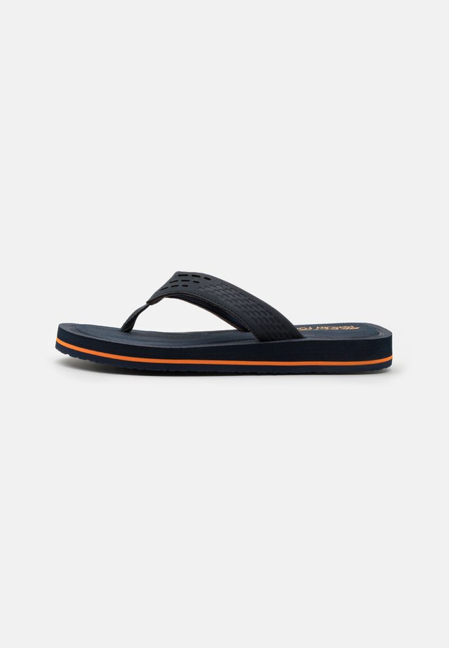 TOCKER - T-bar sandals - blue/orange