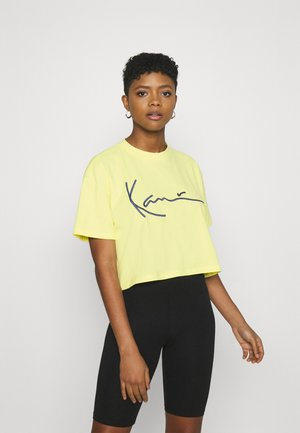 SIGNATURE TEE - T-shirt con stampa - lime