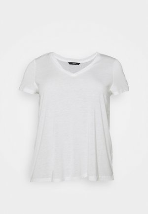 VMSPICY VNECK  - Basic T-shirt - snow white
