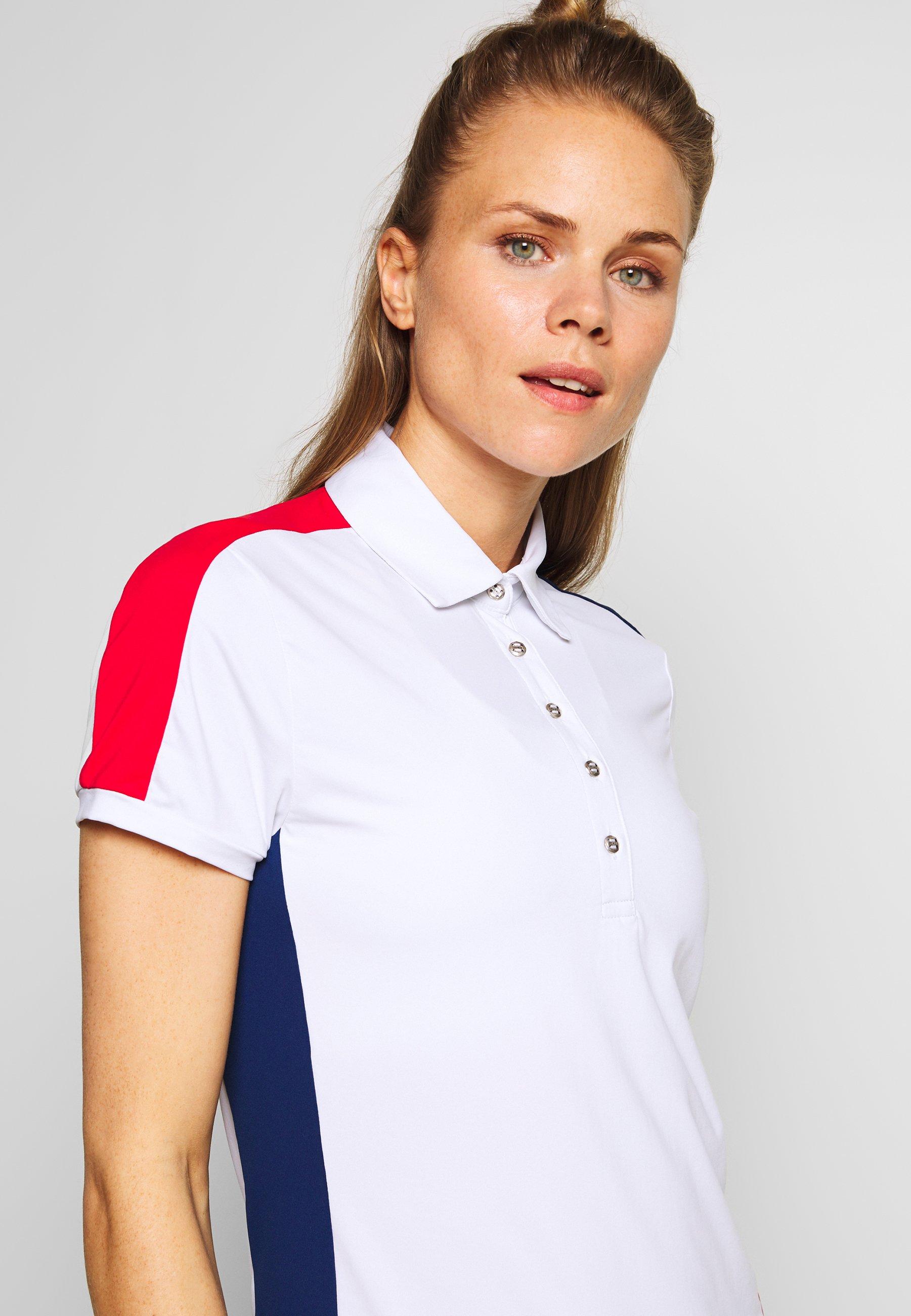 Colmar ZONE - Poloskjorter - white/prussian blue/bright red