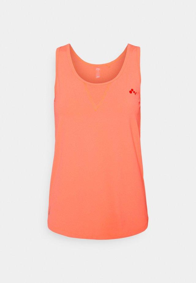 ONPFONTANNE TRAIN  - Sports shirt - neon orange/fiesta