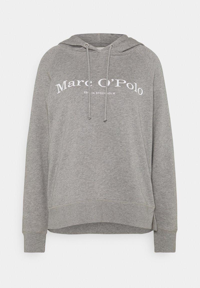 Marc O'Polo - RAGLAN SLEEVE HOODED - Hoodie - medium grey melange