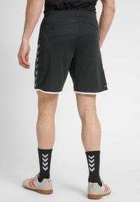 Hummel - HMLAUTHENTIC  - Korte sportsbukser - black/white - 2