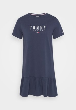 LOGO PEPLUM DRESS - Robe en jersey - twilight navy