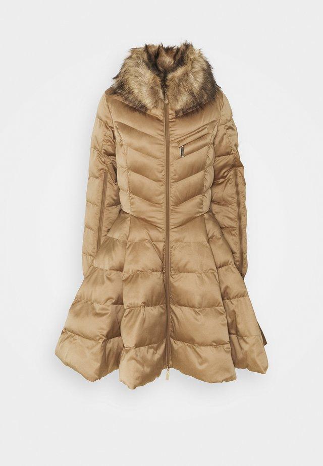 WOMENS PADDED JACKET - Zimní kabát - tortora