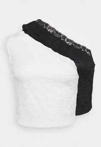 Even&Odd Petite - 2 PACK - Top - black/white - 0