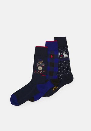 CRTINA CREW SOCK GIFT BOX 3 PACK UNISEX - Socks - royal/navy