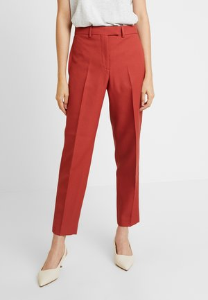 UNIFORM TWILL CIGARETTE PANT - Trousers - brown