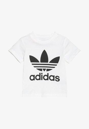 TREFOIL TEE UNISEX - Print T-shirt - white/black