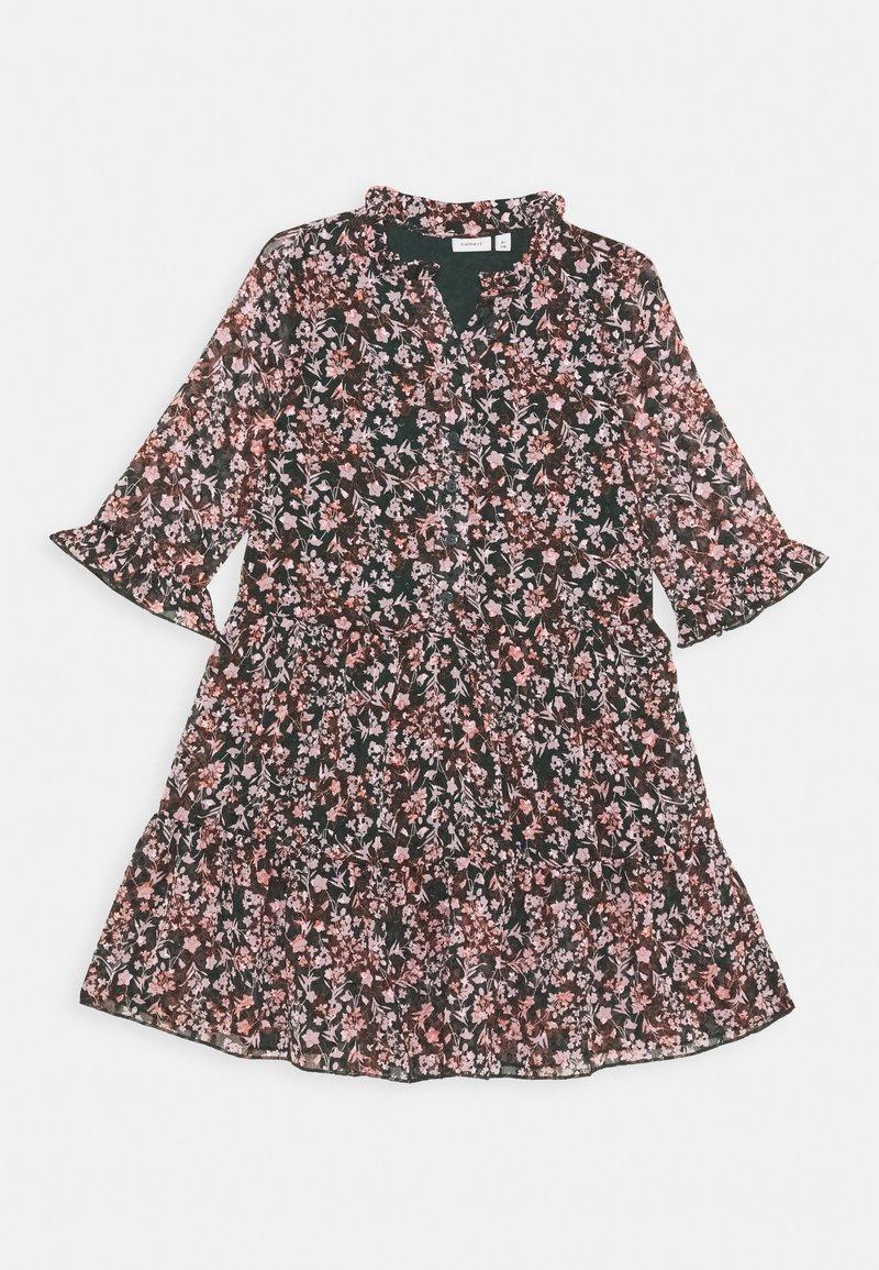 Name it - NKFKIMMIE MIDI 3/4 DRESS - Day dress - darkest spruce