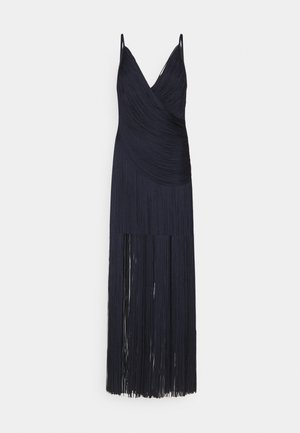 DRAPED FRINGE DEEP GOWN - Společenské šaty - dark navy