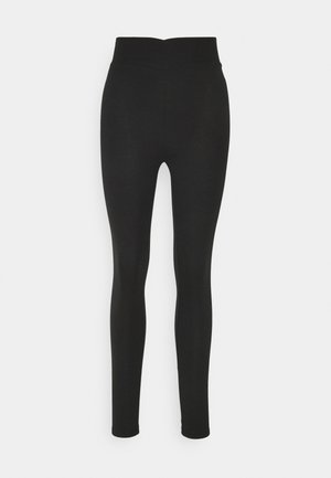 WRAP WAIST - Leggings - black