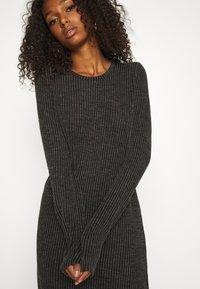 Noisy May - NMLUCIE ONECK DRESS - Jumper dress - dark grey melange - 5