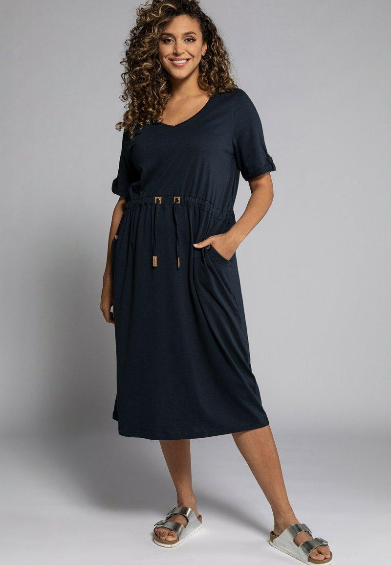 Ulla Popken - Jersey dress - marine