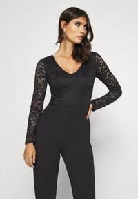 Anna Field - OCCASION - LONG SLEEVES LACE TOP JUMPSUIT - Combinaison - black - 3